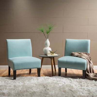 Veranda Slipper Chair Upholstery: Light Blue