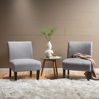 Veranda Slipper Chair Upholstery: Light Gray