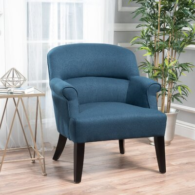 Rhodes Fabric Club Chair Color: Dark Blue