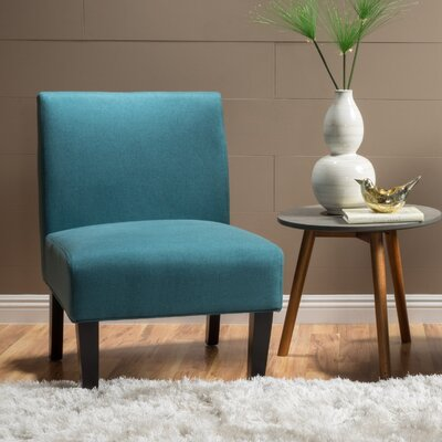 Webster Slipper Side Chair Upholstery: Dark Teal