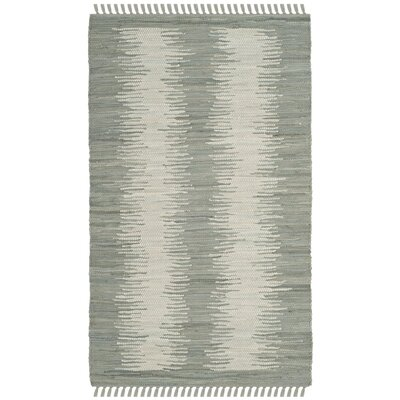 Cayman Hand-Woven Gray Cotton Area Rug Rug Size: Rectangle 26 x 4