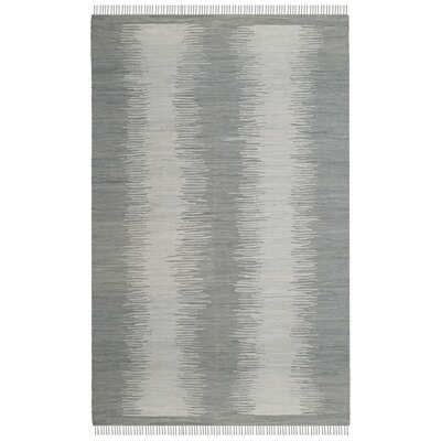 Cayman Hand-Woven Gray Cotton Area Rug Rug Size: Rectangle 5 x 8