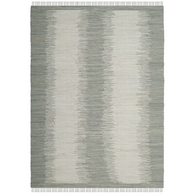 Cayman Hand-Woven Gray Cotton Area Rug Rug Size: Rectangle 8 x 10