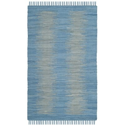 Cayman Hand-Woven Blue/Gray Area Rug Rug Size: Rectangle 26 x 4