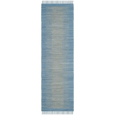 Cayman Hand-Woven Blue/Gray Area Rug Rug Size: Runner 23 x 7