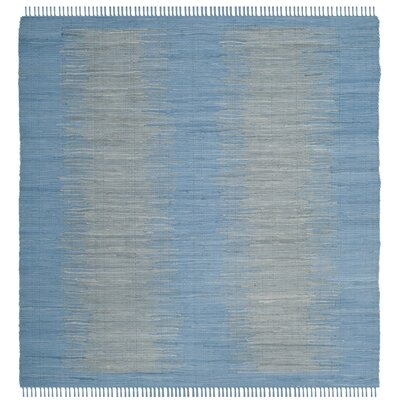 Cayman Hand-Woven Blue/Gray Area Rug Rug Size: Square 6