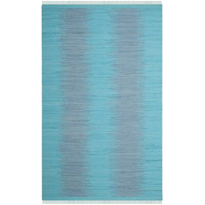 Cayman Hand-Woven Turquoise Cotton Area Rug Rug Size: Rectangle 5 x 8