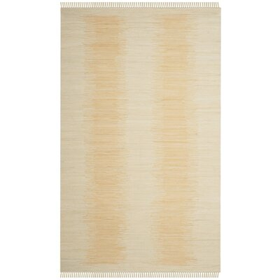 Cayman Hand-Woven Beige Area Rug Rug Size: Rectangle 5 x 8