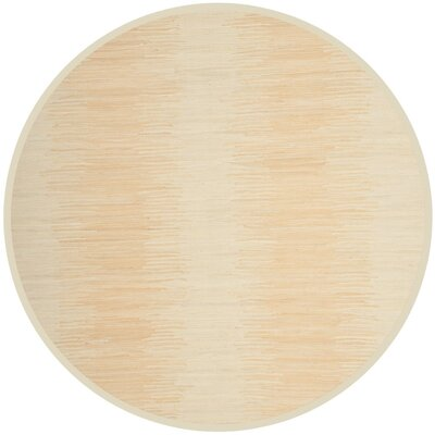 Cayman Hand-Woven Beige Area Rug Rug Size: Round 6