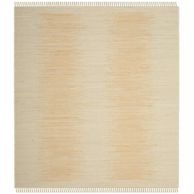 Cayman Hand-Woven Beige Area Rug Rug Size: Square 6