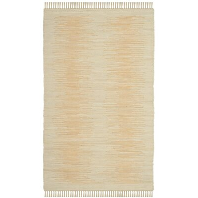 Cayman Hand-Woven Beige Area Rug Rug Size: Rectangle 4 x 6