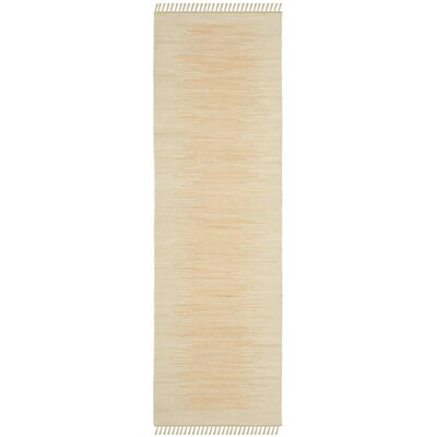 Cayman Hand-Woven Beige Area Rug Rug Size: Runner 23 x 7