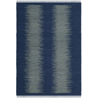 Cayman Hand-Woven Blue/Gray Cotton Area Rug Rug Size: Rectangle 8 x 10