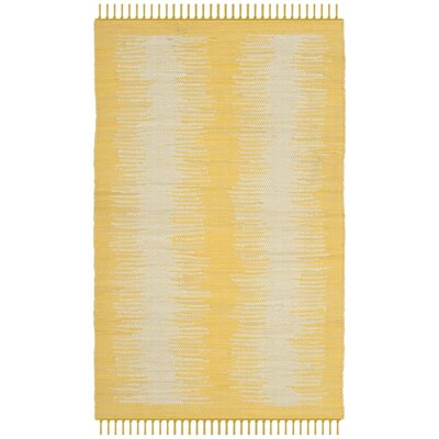 Cayman Hand-Woven Yellow/Gray Area Rug Rug Size: Rectangle 6' x 9'
