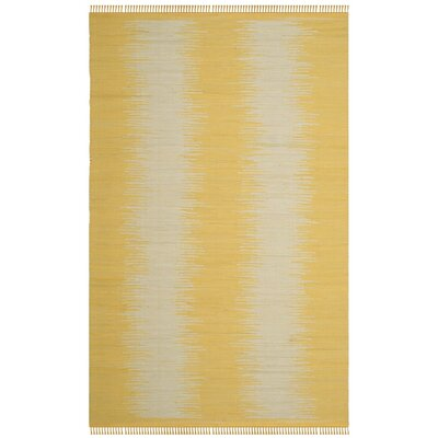 Cayman Hand-Woven Yellow/Gray Area Rug Rug Size: Rectangle 5 x 8