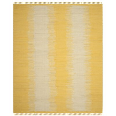 Cayman Hand-Woven Yellow/Gray Area Rug Rug Size: Rectangle 8 x 10
