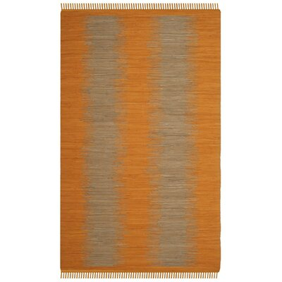 Cayman Hand-Woven Orange Cotton Area Rug Rug Size: Rectangle 5 x 8