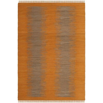 Cayman Hand-Woven Orange Cotton Area Rug Rug Size: 8 x 10