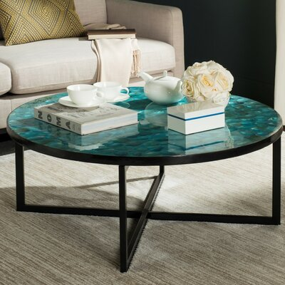 Hafner Coffee Table Color: Turquoise