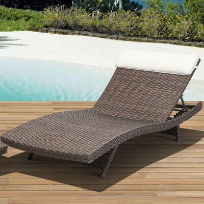 Aquia Creek Lounge Chair with Cushion Color: Brown / Off-White