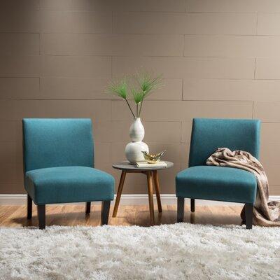 Veranda Slipper Side Chair Upholstery: Dark Teal