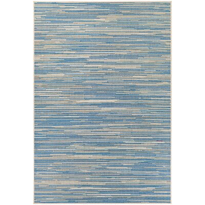 Jasmine Estates Sand/Turquoise Indoor/Outdoor Area Rug Rug Size: 510 x 92