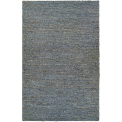 Stockbridge Hand-Loomed Navy Area Rug Rug Size: 53 x 76