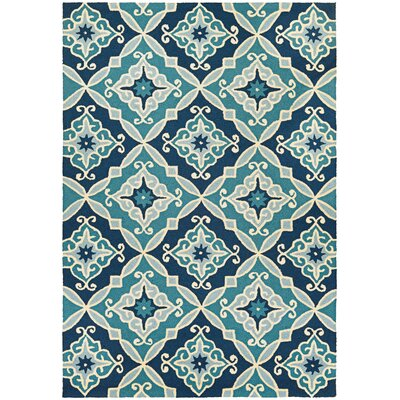 Bennington Hand-Woven Blue Indoor/Outdoor Area Rug Rug Size: 8' x 11'