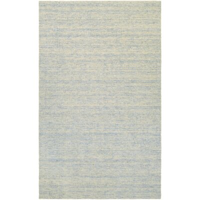 Afton Hand-Loomed Light Blue/Beige Area Rug Rug Size: Rectangle 96 x 136