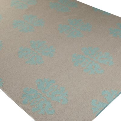 Chastain Blue Haze/Oatmeal Area Rug Rug Size: Rectangle 2 x 3