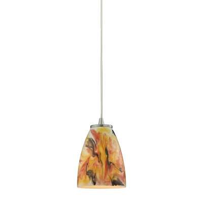 Ramapo Glass 1-Light Mini Pendant Shade Color: Solar Flare