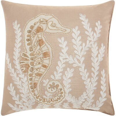 Ashland Seahorse Linen Throw Pillow