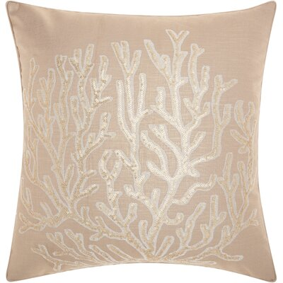 Dahlia Linen Throw Pillow Color: Natural