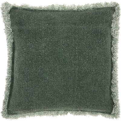 Ottilie 100% Cotton Throw Pillow Color: Green