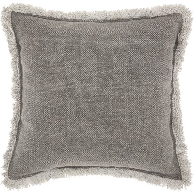 Ottilie Cotton Throw Pillow Color: Gray