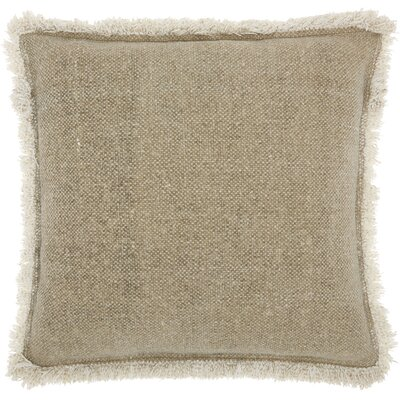 Ottilie 100% Cotton Throw Pillow Color: Beige