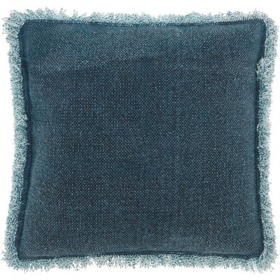 Dahlia 100% Cotton Throw Pillow Color: Indigo