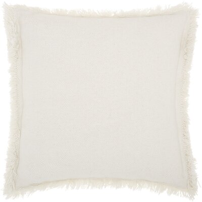 Ottilie 100% Cotton Throw Pillow Color: White