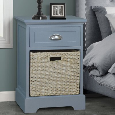 Fleming 1 Drawer Nightstand Finish: Gray