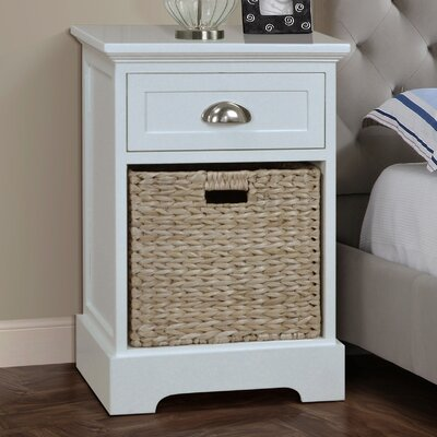 Fleming 1 Drawer Nightstand Finish: Cream