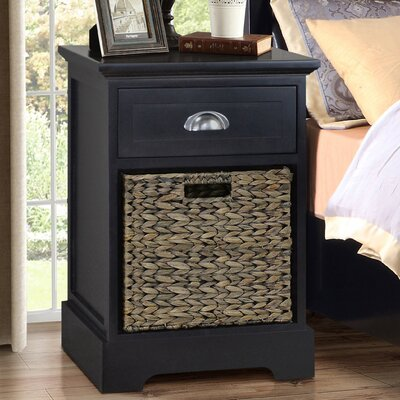 Fleming 1 Drawer Nightstand Finish: Espresso