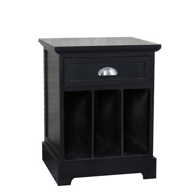 Fleming Partitioned End Table Color: Espresso