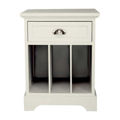 Fleming Partitioned End Table Color: Cream