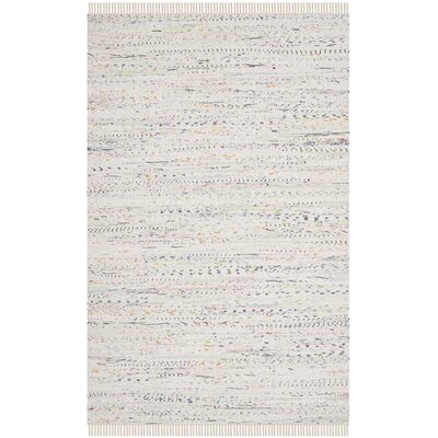 Penrock Way White Area Rug Rug Size: 2 x 3