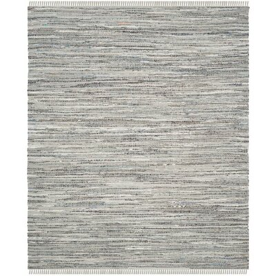 Havelock Striped Contemporary Hand-Woven Gray Area Rug Rug Size: 4 x 6