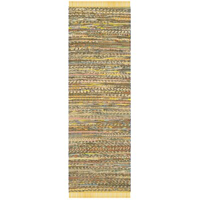 Havelock Contemporary Hand-Woven Cotton Yellow Area Rug Rug Size: Runner 23 x 7