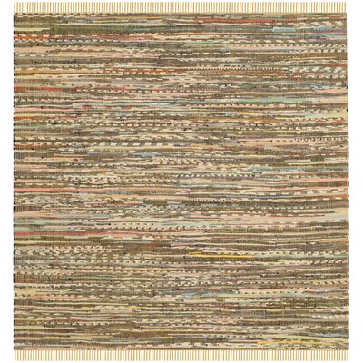 Havelock Contemporary Hand-Woven Cotton Yellow Area Rug Rug Size: Square 4