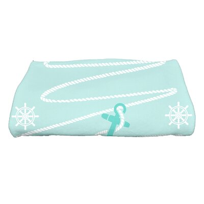 Pleasanton Anchor Bath Towel Color: Aqua