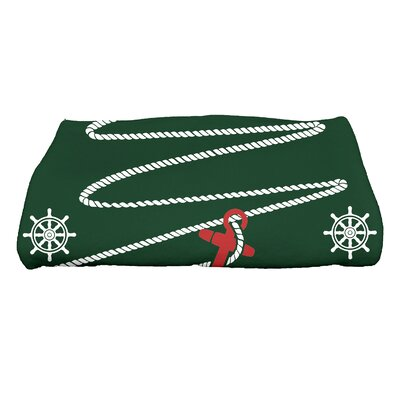 Pleasanton Anchor Bath Towel Color: Green