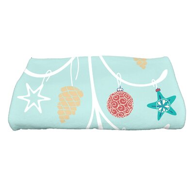 Yerang Pinecone Tree Bath Towel Color: Aqua